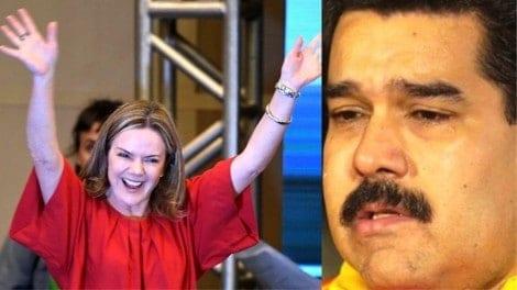 Por mera provocação, Gleisi grava vídeo em defesa da tirania de Maduro (Veja o Vídeo)