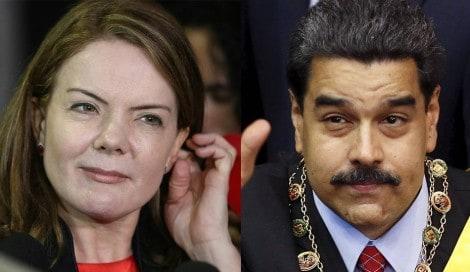 Gleisi, a lunática, critica Trump e Bolsonaro e defende ditador