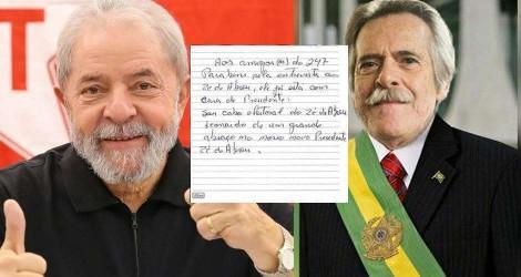 """A rélis pública do Projaquistão: Faltou Lula escrever: """"É verdade esse bilete"""""""