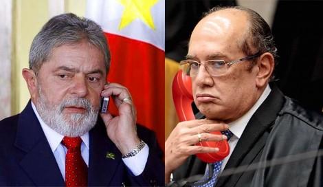A ligação cheia de emoção de Gilmar para Lula o coloca em suspeição