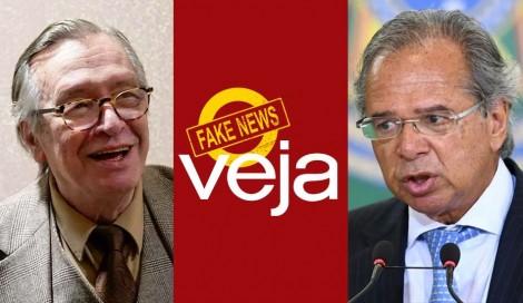 Revista Veja aponta apreensão no mercado, após elogio de Guedes a Olavo, e Bovespa bate recorde histórico