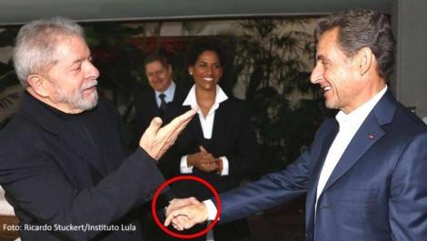 Gleisi questiona e internauta desvenda o idioma articulado entre Lula e Sarcozy