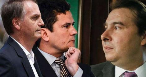 Maia tenta fritar Sérgio Moro para queimar Bolsonaro