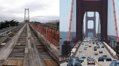 A Ponte Hercílio Luz no Brasil (SC) em debate... E a Golden Gate, nos Estados Unidos