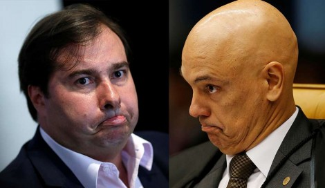 Rodrigo Maia sai em defesa de censura de Alexandre de Moraes