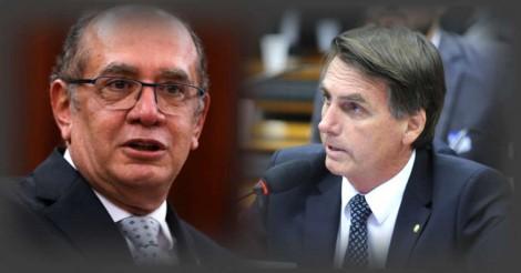 Sem medo, Bolsonaro mexe no bolso de Gilmar
