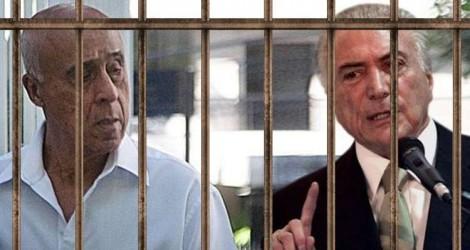 A alegria durou pouco: Justiça manda Temer e Coronel Lima voltarem a prisão