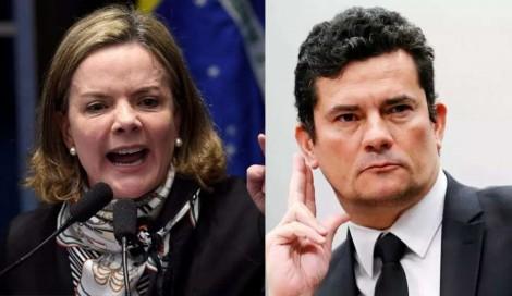 Gleisi, enlouquecida, atribui a Moro o crime pelo qual Lula foi condenado (Veja o Vídeo)
