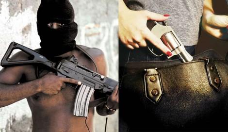 Para desarmamentistas, fuzil na mão de marginal é guarda-chuva, mas 38 com um cidadão é arma de destruição em massa
