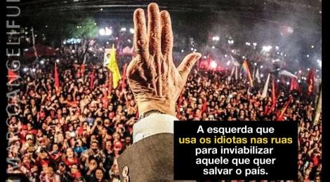 O dedo podre da esquerda por trás das manifestações
