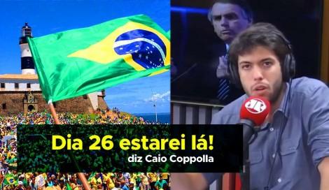 Caio Coppolla desmente Kim Kataguiri e declara apoio as manifestações de 26 de maio (Veja o Vídeo)