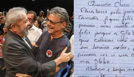 A carta de Lula para Chico Buarque: erros gramaticais e críticas a sua velha parceira
