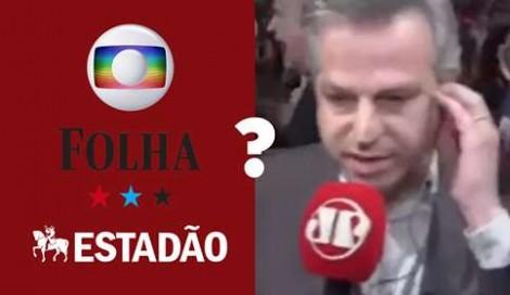 O covarde silêncio dos jornais Estadão, Folha e O Globo sobre a agressão ao repórter da Jovem Pan (Veja o Vídeo)