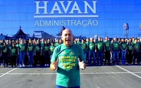 Funcionários da Havan protestam para trabalhar e sindicato pelego tenta impedir