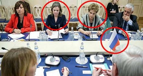 Na semana anterior ao vazamento de mensagens, Dilma e Gleisi estiveram na Rússia
