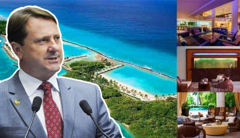 As férias no Caribe de um senador condenado