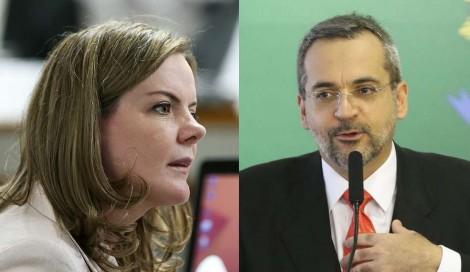 """Gleisi, fora de si, promete processar Weintraub por chamar Lula e Dilma de """"droga"""" (Veja o Vídeo)"""