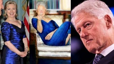 Bill Clinton é pego com a boca na botija: Hillary emprestou o vestido pra ele?