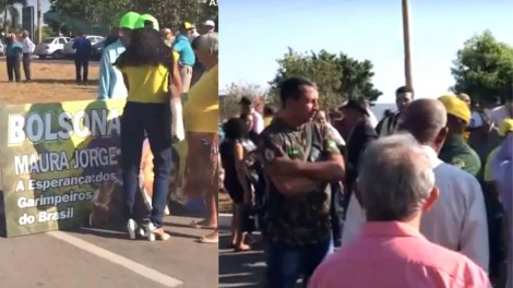 AO VIVO: Três ônibus com garimpeiros impedem o acesso ao Palácio da Alvorada (Veja o Vídeo)