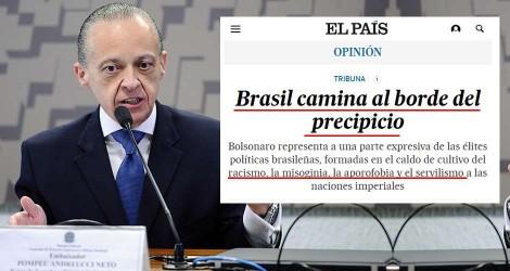 """Embaixador brasileiro desmonta mentiras publicadas pelo El Pais, a """"Globo da Espanha"""""""