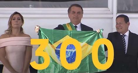 Bolsonaro publica vídeo épico sobre os primeiros 300 dias de Governo