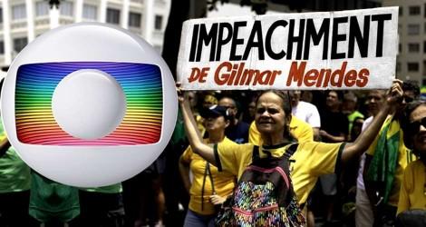 Portal G1 da Globo ignora manifestação contra Gilmar Mendes