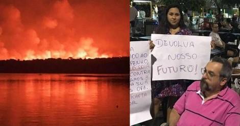 Weintraub desconfia que membros de ONGs presos no Pará por incêndio florestal são os mesmos que o hostilizaram