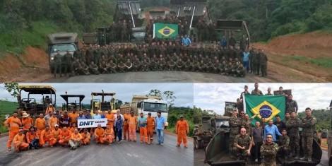 Histórico: Após 150 dias de trabalho incessante exército conclui rodovia iniciada há 43 anos