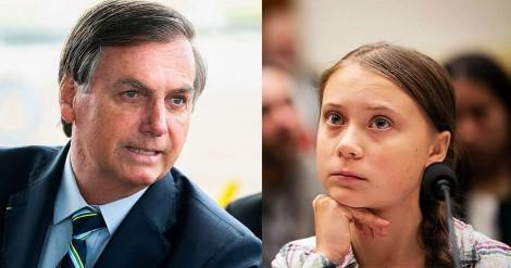 "Bolsonaro descreve perfeitamente Greta: ""pirralha"" (veja o vídeo)"
