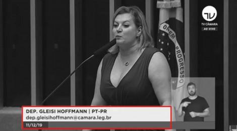 Joice Hasselmann é confundida com Gleisi Hoffmann pela TV Câmara (veja o vídeo)