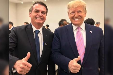 """Bolsonaro afirma: """"Trump vai ser reeleito, alguém tem dúvidas disso?"""" (veja o vídeo)"""