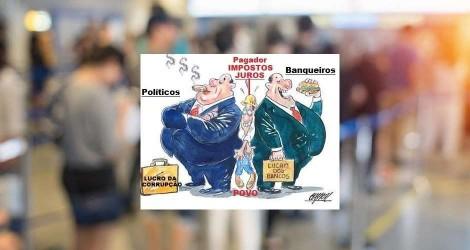 A cada dia, bancos e banqueiros massacram o povo brasileiro, sem dó e piedade