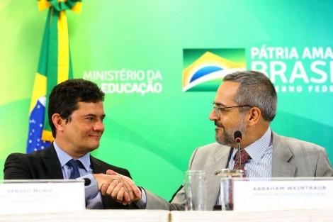Moro e Weintraub se unem e anunciam investimentos de R$ 10 milhões em bolsas de pesquisa em segurança pública (veja o vídeo)