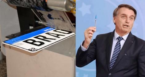 A não exigência da troca de placas do Mercosul vai gerar R$ 2 bilhões/ano de economia para a sociedade, anuncia Bolsonaro