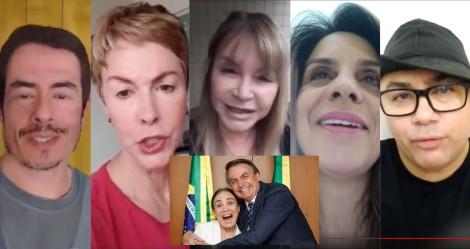 """Artistas que nunca """"mamaram"""" na Lei Rouanet gravam em apoio a Regina Duarte (veja o vídeo)"""