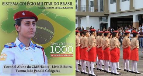 Escolas Cívico-Militares já! Aluna de escola militar tira nota 1000 em redação do Enem