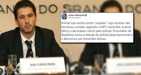 """Assessor de Bolsonaro posta na rede um exemplo da inversão de valores que norteia a """"esquerda"""" do MPF"""