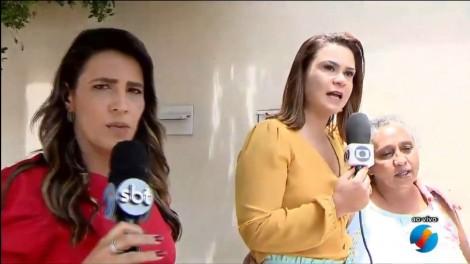 Em cena lamentável, repórteres da Globo e do SBT brigam ao vivo por entrevista (veja o vídeo)
