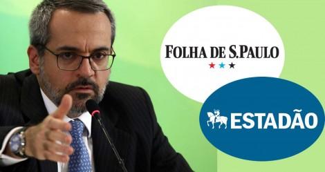 """Weintraub detona Folha e Estadão por novas """"fake news"""": """"Trabalho de verdade, ao contrário dessa tigrada"""""""