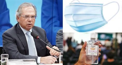 Paulo Guedes estuda desoneração de máscara cirúrgica, álcool em gel e outros produtos médicos e hospitalares
