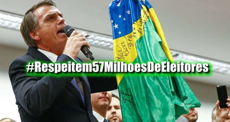 População reage ao desrespeito ao presidente e #Respeitem57 MilhõesdeEleitores é líder nos Trending Topics