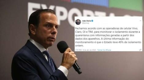 """""""DitaDória"""" monitora celulares e ameaça prender inocentes"""
