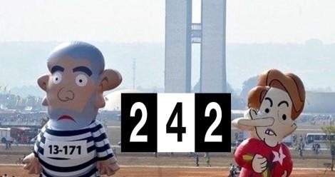 242, um número intrigante que tem tudo a ver com o PT. Digite no Google