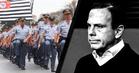 """PMs de SP dão """"lição"""" em Dória e se colocam contrários a prisão para quem desobedecer o isolamento"""