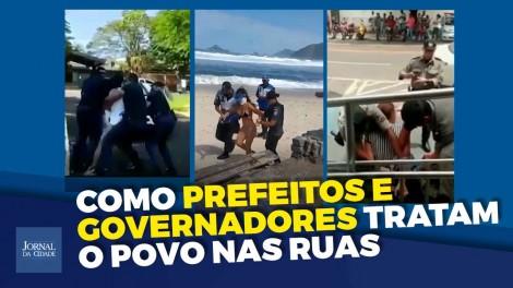 Cenas chocantes de abuso de autoridade e violência contra a população (veja o vídeo)