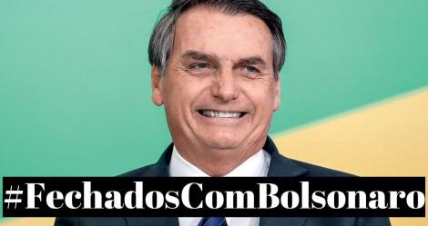 Virando rotina: Povo mostra sua força e #FechadosCom Bolsonaro chega ao topo nas redes