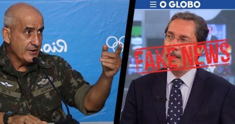 General Ramos, ministro-chefe da Secretaria de Governo, enquadra e desmente jornalista da Globo