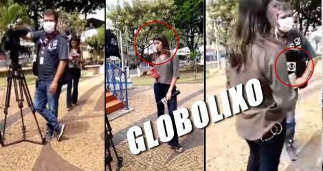 Globo tenta fazer pressão em pequena cidade que abriu comércio, populares não permitem e expulsam equipe (veja o vídeo)