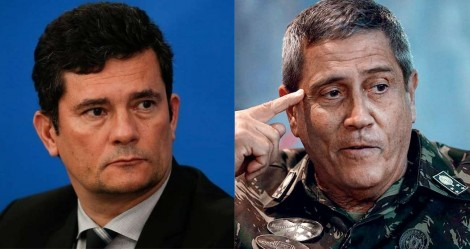 """Braga Netto afasta rumores de demissão de Moro: """"A assessoria já desmentiu"""" (veja o vídeo)"""