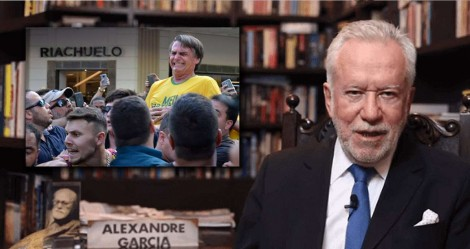 Em tuíte enigmático, jornalista Alexandre Garcia relembra facada de Adelio